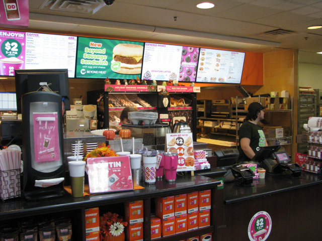 Coffee and Donuts at our in store convenient Dunkin Donuts